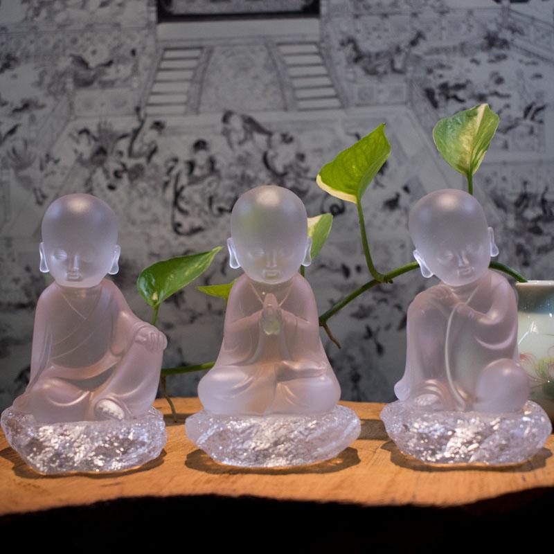 Tượng Chú Tiểu Bằng Lưu Ly